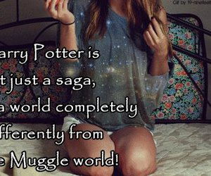 girl, harry potter, and magic image