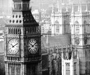 amazing, Big Ben, and black and white image