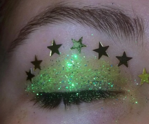 green, aesthetic, and glitter image