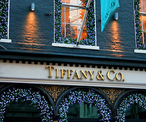 tiffany, christmas, and lights image