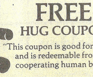 free, hug, and coupon image