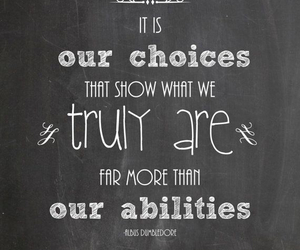 harry potter, choices, and dumbledore image