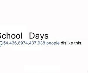 school, dislike, and facebook image