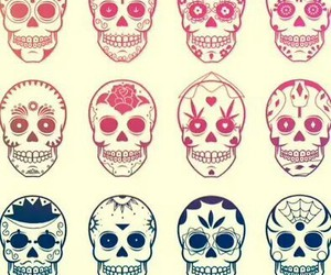 skull, wallpaper, and grunge image