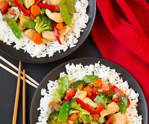 food, rice, and vegetables image