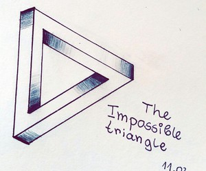 art, impossible, and triangle image
