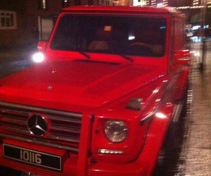 red, car, and mercedes image