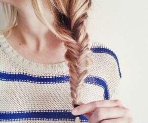 beauty, blond, and braid image
