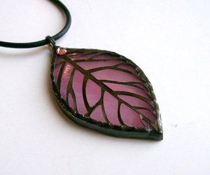 glass, leaf, and necklace image