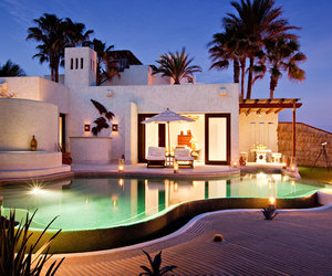 pool, luxury, and vacation image
