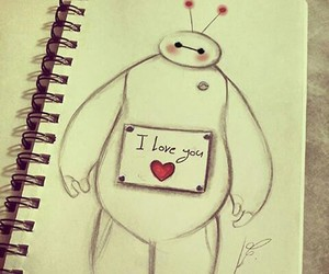 disney, love, and baymax image