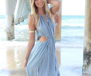 dress, beach, and outfit image