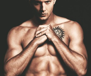 dean winchester, muscules, and love image