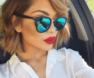beauty, sunglasses, and hair image