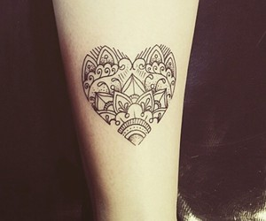 tattoo, heart, and style image