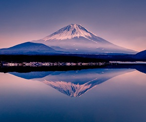 japan, landscape, and mountain image