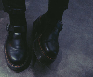black, boots, and legs image