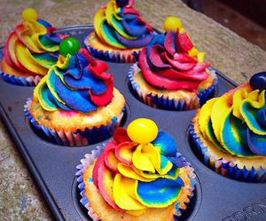 art, colorful, and cupcakes image