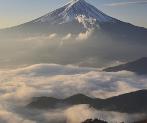 mountain, nature, and sky image
