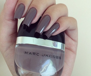 nails, marc jacobs, and brown image