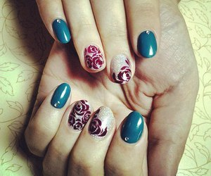 glitter, green, and nail art image
