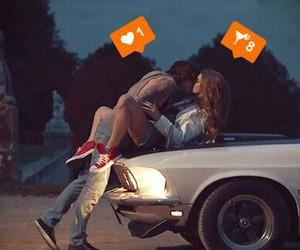 love, kiss, and car image