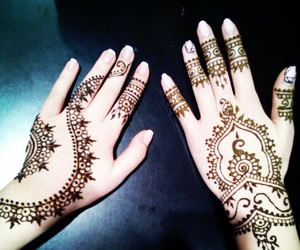 black, hands, and henna image
