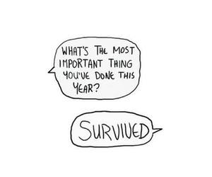 survive, quotes, and life image