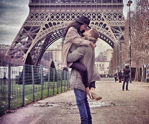 beso, couple, and cute image
