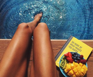 summer, fruit, and legs image