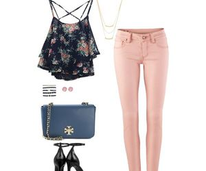black, fashion, and floral image