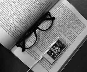 glasses, music, and black and white image