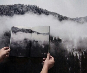 book, nature, and mountains image