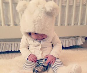 baby, white, and OMG image