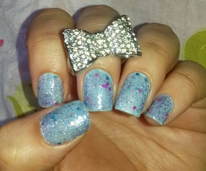 beauty, unhas, and blue image
