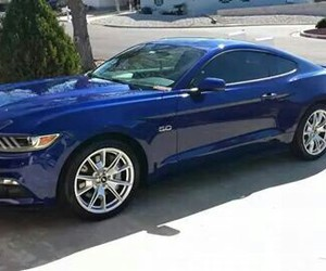 blue, mustang, and american muscle image
