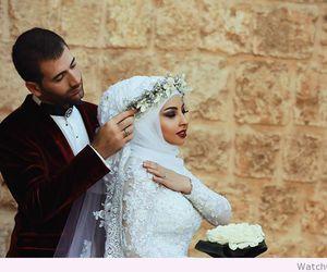 hijab, marriage, and wedding image