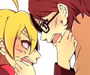 naruto, anime, and sarada uchiha image