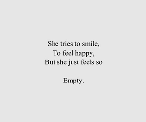 empty, sad, and quotes image
