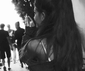 ariana, ariana grande, and black and white image