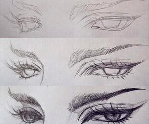 beautiful, eyes, and drawing image