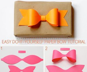 diy, bow, and Paper image