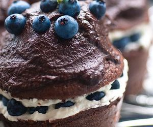 chocolate, cupcake, and blueberry image