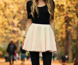 blond, fashion, and skirt image