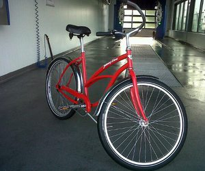 bikes, red, and transport image