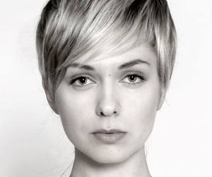 beauty, blonde hair, and haircut image