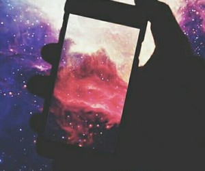 hipster, iphone, and sky image