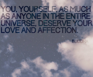 affection, Buddha, and clouds image