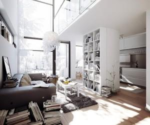 design, interior, and white image