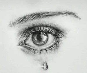 beautiful, tear, and drawing image